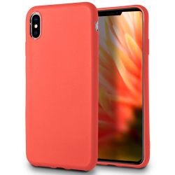 Skal till Apple iPhone XS MAX Röd matt TPU Skydd Fodral Röd