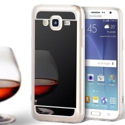 Spegel Skal för Samsung Galaxy J5 Tunnt Mirror Mobilskal Skydd S Svart