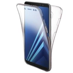 TPU Mobil-Skal för Samsung Galaxy A8+ (2018) Gummi 360 Graders S Transparent