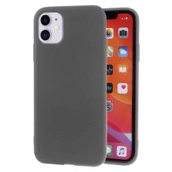 Ultra tunnt skal till för iPhone 11 Lätt Mjukt Enfärgat Silikon  grå