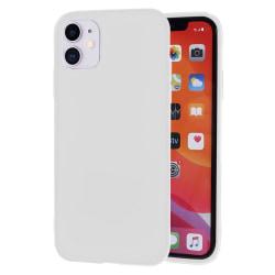 Ultra tunnt skal till för iPhone 11 Lätt Mjukt Enfärgat Silikon  Vit