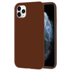 Ultra tunnt skal till för iPhone 11 Pro Enfärgat Silikon Ultra-S Brun