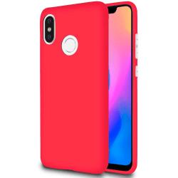 Ultra tunnt skal till för Xiaomi Mi 8 Lätt Mobil Mobilskal Mjukt Röd