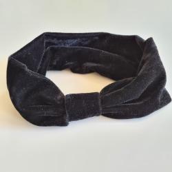 Hårband i mjuk sammet svart