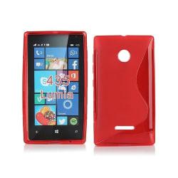 S Line silikon skal Microsoft Lumia 435 (RM-1070) Röd