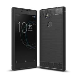 Borstat silikon TPU skal Sony Xperia L2 (H3311) Svart