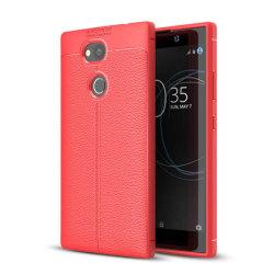 Läder mönstrat TPU skal Sony Xperia L2 (H3311) Röd
