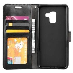 Mobilplånbok 3-kort Samsung Galaxy A8 Plus 2018 (SM-A730F) Svart