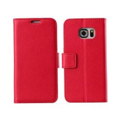 Mobilplånbok 2-kort Samsung Galaxy S6 Edge (SM-G925F) Röd