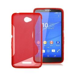 S Line silikon skal Sony Xperia E4 (E2105) Röd