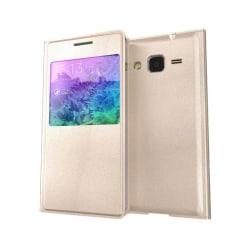 FlipCover Samsung Galaxy Trend 2 (SM-G313H) Guld