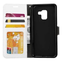 Mobilplånbok 3-kort Samsung Galaxy A8 Plus 2018 (SM-A730F) Vit