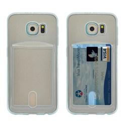 Silikon skal med kortplats Samsung Galaxy S6 Edge (SM-G925F) Blå