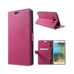 Mobilplånbok 2-kort Samsung Galaxy E7 (SM-E700) Rosa