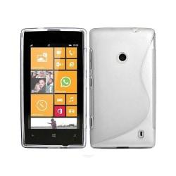 S Line silikon skal Nokia Lumia 520/525 (RM915) Transparent