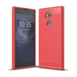 Borstat silikon TPU skal Sony Xperia XA2 Ultra (H4213) Röd