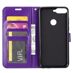 Mobilplånbok 3-kort Huawei Y6 2018 (ATU-L21) Lila