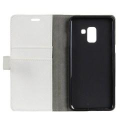 Mobilplånbok 2-kort Samsung Galaxy A8 Plus 2018 (SM-A730F) Vit
