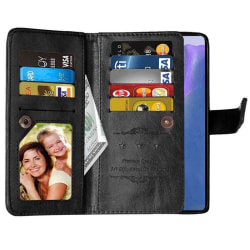 Dubbelflip Flexi 9-kort Samsung Galaxy Note 20 Svart