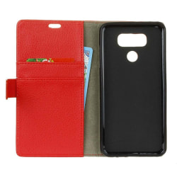 Mobilplånbok 2-kort LG V40 ThinQ (LM-V405) Röd