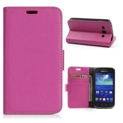 Mobilplånbok 2-kort Samsung Galaxy Trend 2 (SM-G313H) Rosa