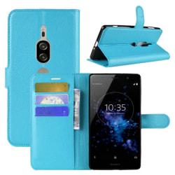 Mobilplånbok 3-kort Sony Xperia XZ2 Premium (H8166) Ljusblå