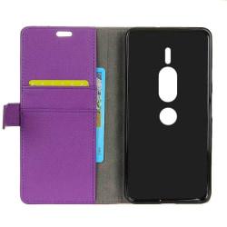 Mobilplånbok 2-kort Sony Xperia XZ2 Premium (H8166) Lila
