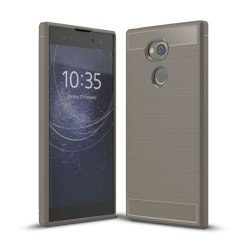 Borstat silikon TPU skal Sony Xperia XA2 Ultra (H4213) Grå