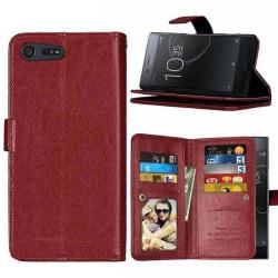 Dubbelflip Flexi 9-kort Sony Xperia XZ Premium (G8141) Brun