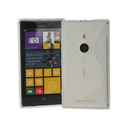 S Line silikon skal Nokia Lumia 925 (RM-893) Vit