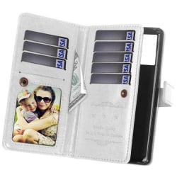 Dubbelflip Flexi 9-kort Samsung Galaxy Note 20 Vit