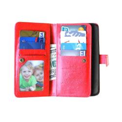 Dubbelflip Flexi 9-kort Motorola Moto X Play (XT1563) Röd