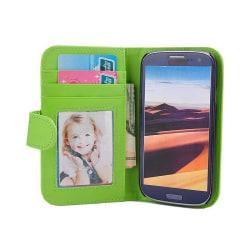 Mobilplånbok Foto Samsung Galaxy S3 (GT-i9300) Grön