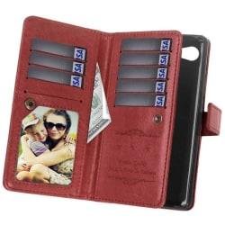 Dubbelflip Flexi 9-kort HTC Desire 12 Brun