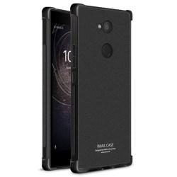 IMAK Shockproof silikon skal Sony Xperia L2 (H3311) Matt Svart