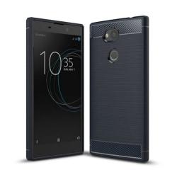 Borstat silikon TPU skal Sony Xperia L2 (H3311) Blå