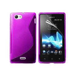 S Line silikon skal Sony Xperia J (ST26i) Lila