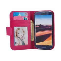 Mobilplånbok Foto Samsung Galaxy S3 (GT-i9300) Mörk Rosa
