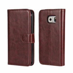 Mobilplånbok MOVE 2i1 Samsung Galaxy S6 Edge (SM-G925F) Mörk Brun