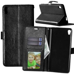 Mobilplånbok 3-kort Sony Xperia XA Ultra (F3211) Svart