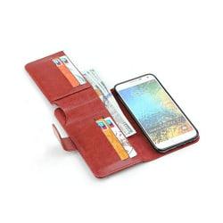 Multiplånbok 7-kort Samsung Galaxy E7 (SM-E700) Brun