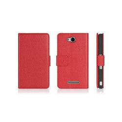 Mobilplånbok 2-kort Sony Xperia C (c2303) Röd