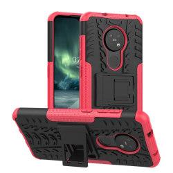 Stöttåligt skal med ställ Nokia 7.2 (TA-1178) Rosa