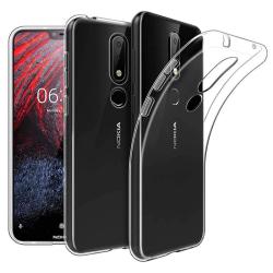 Silikon skal transparent Nokia 6.1 Plus (TA-1083)