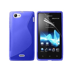 S Line silikon skal Sony Xperia J (ST26i) Blå