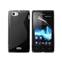S Line silikon skal Sony Xperia J (ST26i) Svart