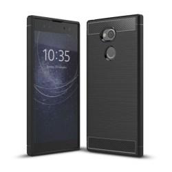 Borstat silikon TPU skal Sony Xperia XA2 Ultra (H4213) Svart