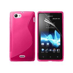 S Line silikon skal Sony Xperia J (ST26i) Rosa