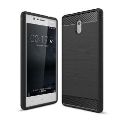 Borstat silikon TPU skal Nokia 3 (TA-1032) Svart