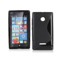 S Line silikon skal Microsoft Lumia 435 (RM-1070) Svart